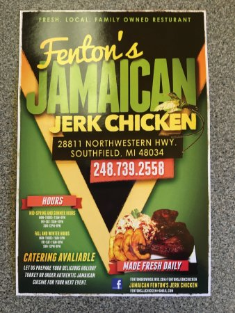 Fenton's Jerk Chicken