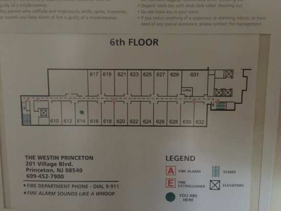 The Westin Princeton at Forrestal Village: Hotel Floorplan