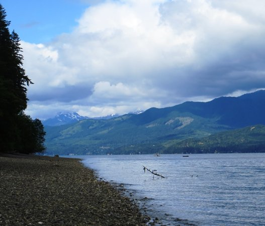 Seabeck, WA: View of Hood Canal from Scenic Beach State Park