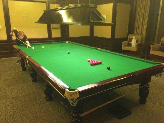Grand Central Hotel Shanghai: Snooker Tisch (100 Yen pro Stunde)