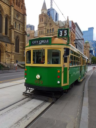 The free Melbourne City Circle Tram. So much fun