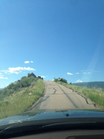 Skyline Drive...our own little roller coaster! And don't look down, straight down on both sides.