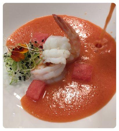 La Cuina de la Loli: Gazpacho de sandia y langostinos