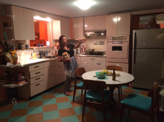 Kate's Lazy Meadow Motel: Having Fun in our cool kitchen
