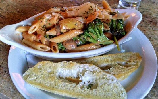 The Works: My veggie pasta.