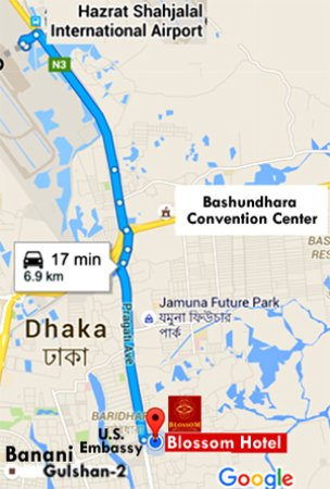 Map - Picture of Blossom Hotel, Dhaka City - TripAdvisor