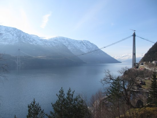 The Hardanger bridge under construction
