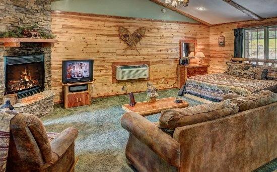 Lake Forest Luxury Log Cabins: Spacious as a 1 story cabin Bear Cub Cabin
