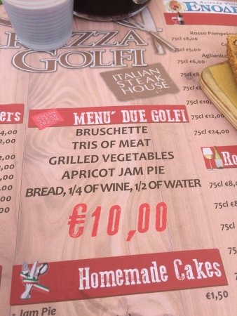 Nice And Cheap Food Picture Of Terrazza Due Golfi