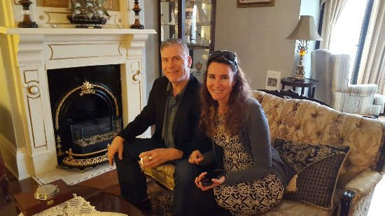 Here we are in the Rose Manor Inn's front parlour when we first arrived.