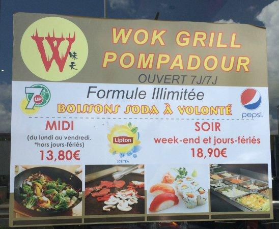 formule illimitée midi et soir - picture of wok grill, creteil