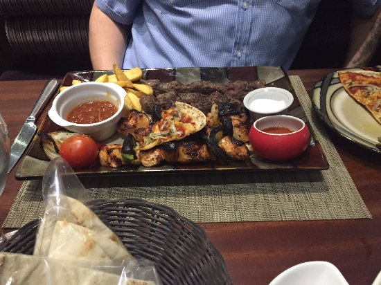 Grilled Sampler Picture Of Yasmina Lebanese Cuisine Accra