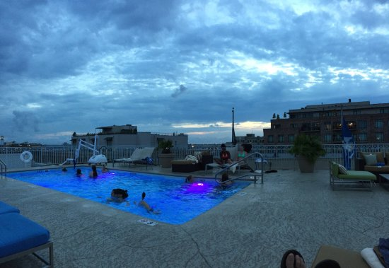Dust at the roof top pool Picture of Renaissance New Orleans Arts