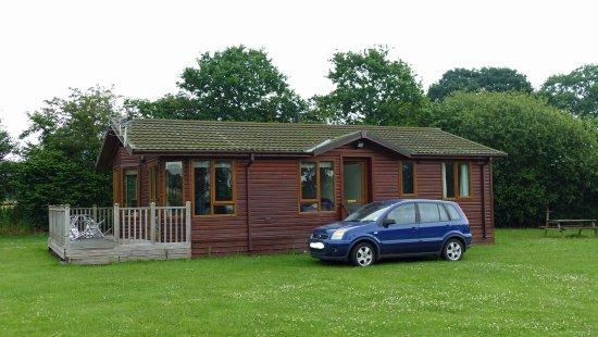 Hinstock, UK: Our cabin & car.