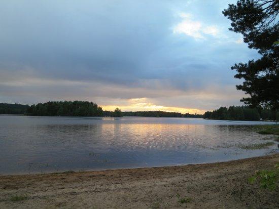 Keuruu, Finlandia: The beach in dusk
