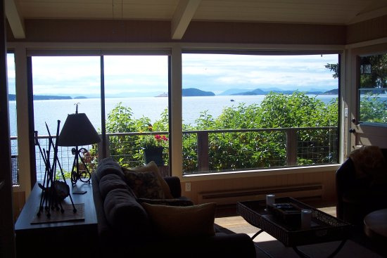 Orcas, WA: View from inside Sea Dream Cottage