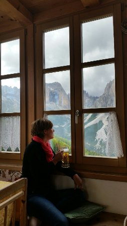 Rifugio Negritella: The view from the hut is just breathtaking !