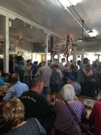 Zydeco dancing at the Cafe Des Amis in Breaux Bridge