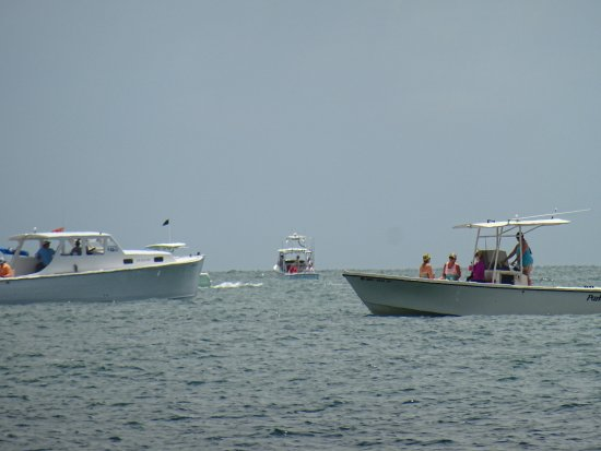 Boca Grande, FL: boat seen from the beach