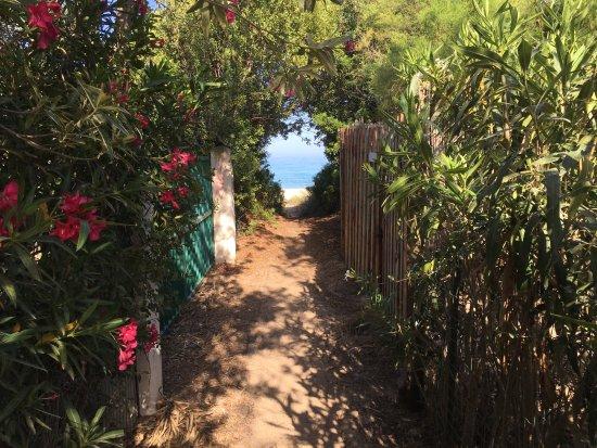 Monte Nai, Italia: il viottolo che porta alla spiaggia