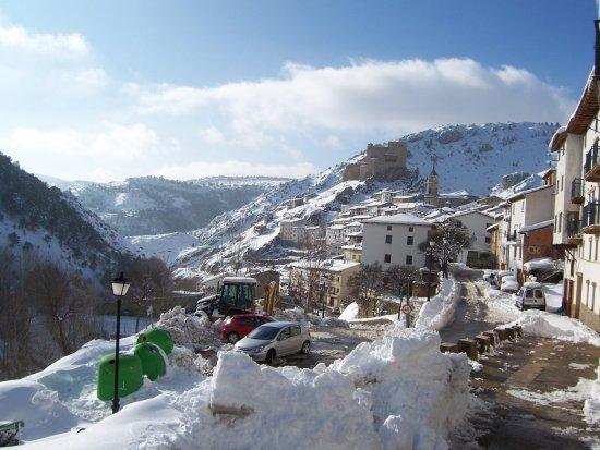 Alcala de la Selva, Ισπανία: alcala con nieve