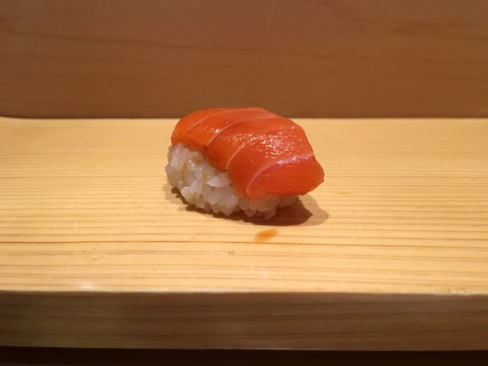 Sushi Bar Yasuda: one of our many pieces of sushi from omakase