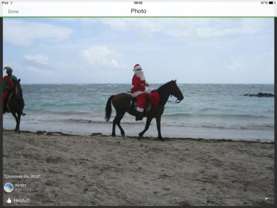 Vieux Fort: Christmas Day horseback riding on the beach