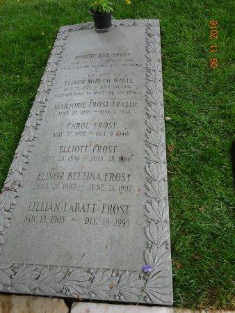 Bennington Centre Cemetery: Robert Frost Grave site