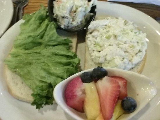 Troy, IL: Chicken Salad sandwich, creamy cole slaw, seasonal fruit