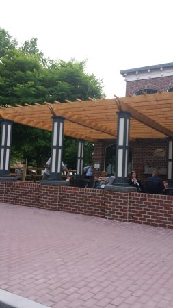 Appalachian Brewing Company - Gettysburg Battlefield: ABC from the outside. Outside dining as well as the Beer Garden.