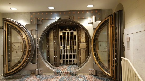 The original bank vault in the basement picture of for Vault room construction