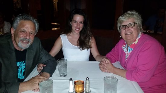 Bonnell's Restaurant: My wife, daughter, and I for a pre-Father's Day Dinner.