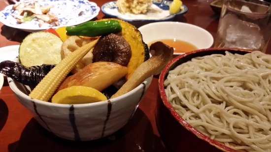 Nagatacho Kurosawa: Soba noodle and season's vegetable tempras