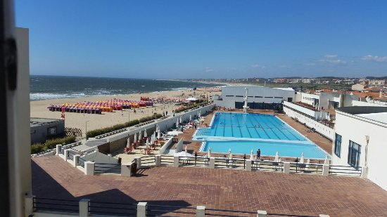 Espinho, Portugal: View of piscina from hotel