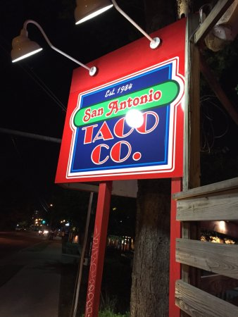 San Antonio Taco Co: Main Street sign