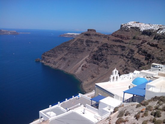 Kafieris Apartments On The Cliff: vista dal terrazzo