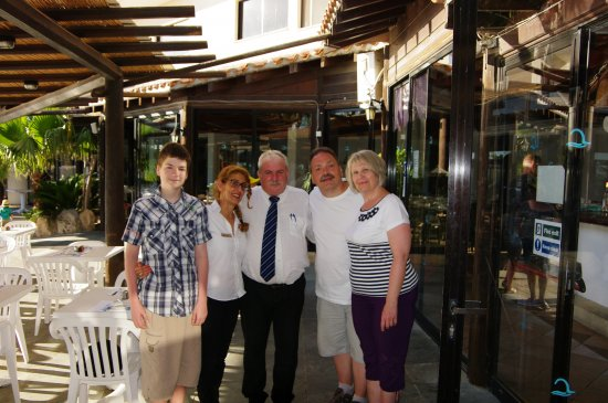 Paphos Gardens Holiday Resort: With Costas and Lea -- two angels of the restaurant