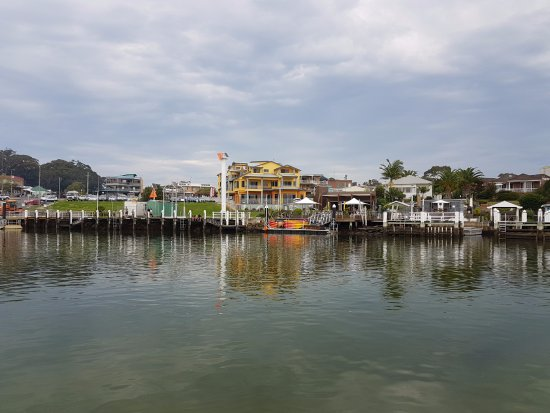 Arriving at Huskisson on the Husky Ferry