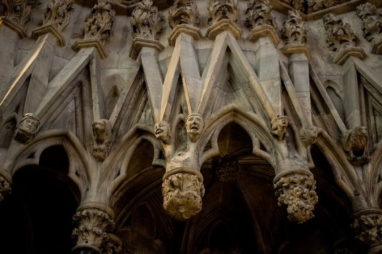 York Minster: chapter house faces