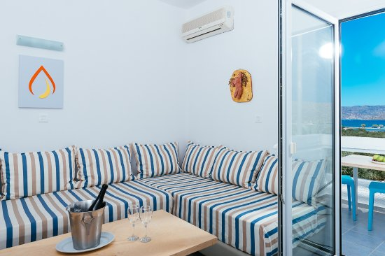 Elounda Krini Hotel: Living Room Suite
