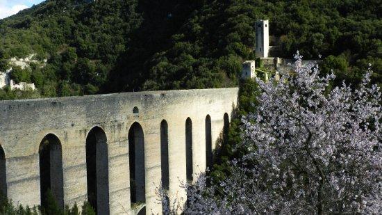 Hotel Charleston: El puente y acueducto de Spoleto, a minutos caminando del hotel