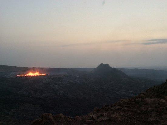 Afar Region, Ethiopia: Lever du soleil sur Erta Ale
