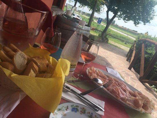 Isola Augusta La Cantinetta: Pranzetto al verde