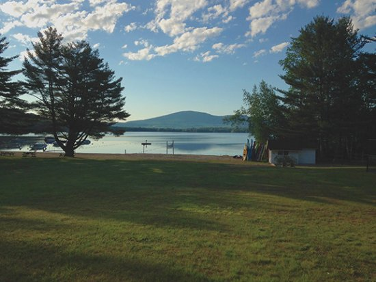 New London, NH: This shot is taken on the ground, but it was the view from our windows.