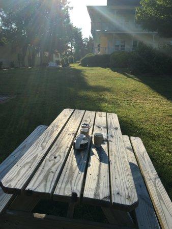 Sun N Sand Resort Coffee Outdoors Enjoying The Morning