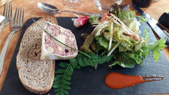 Chez Louisette : Terrine de canard aux foie gras, aux baies et aux noisettes