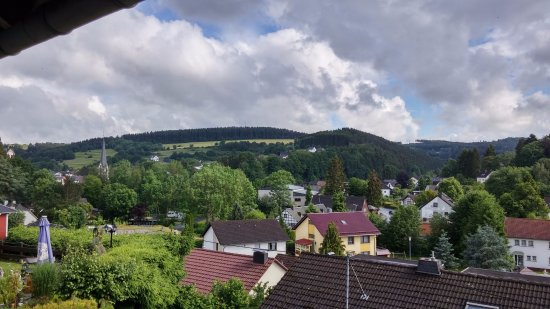 Hotel Pension Berghof: The view from the balcony of room 3. Room 1, 2 and 4 have the same view.
