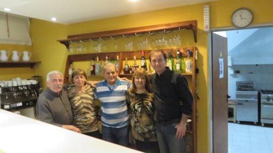 La Fontana Hotel : con amigos compartiendo una semana de vacaciones y con el dueño del hotel Nicola