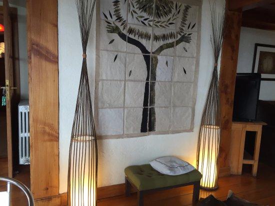 La Barraca Suites: Detalle de la sala de estar.