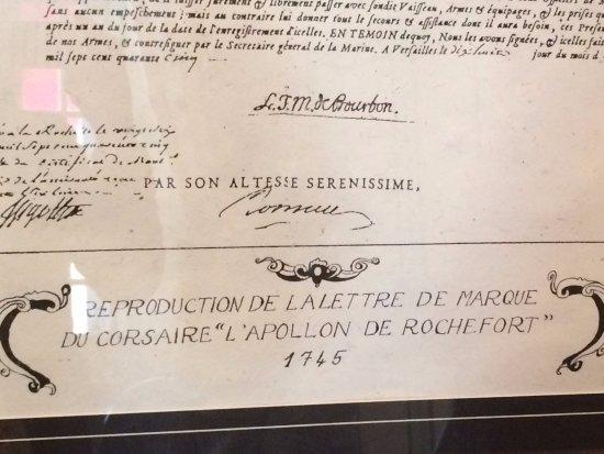 Demeure de Corsaire : La lettre de marque, passeport indispensable pour être reconnu Corsaire du Roi